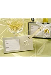 Let?s Celebrate Toasting Glass Luggage Tag (Set of 12) - Wedding Favors
