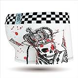 DARK SHINY(ダークシャイニー) メンズボクサーパンツ Crown skull:ホワイト (L)_MOCO23L