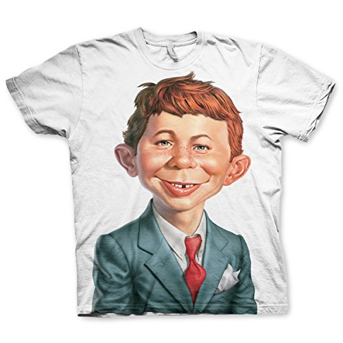 Officially Licensed Merchandise Mad Magazine - Alfred E. Neuman T-Shirt (White), XX-Large