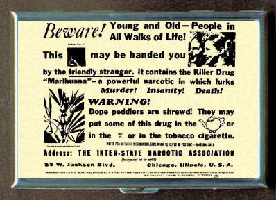 MARIJUANA KILLER DRUG FUNNY ID Holder, Cigarette Case or Wallet: MADE IN USA!