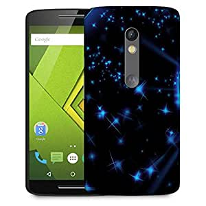 Snoogg Stars And Circles Designer Protective Back Case Cover For Motorola Moto G4