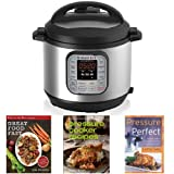 Instant Pot IP-DUO60 7-in-1 Programmable 6-Quart/1,000-Watt Pressure Cooker and Book Collection Bundle