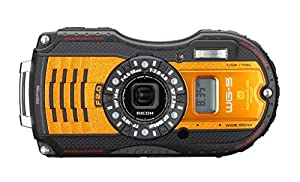 "Ricoh WG-5 GPS Digital Camera, 16MP, 4x Optical Zoom, 3"" LCD Display, Shake Reduction, Waterproof & Shockproof, Full HD 1080p Video, Orange"