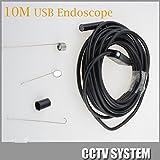 Newest 9mm Dia USB Endoscope 2mp USB Insepction Camera Endoscope 6led 1600x1200 Borescope 10M Long Flexible Cable IC10H