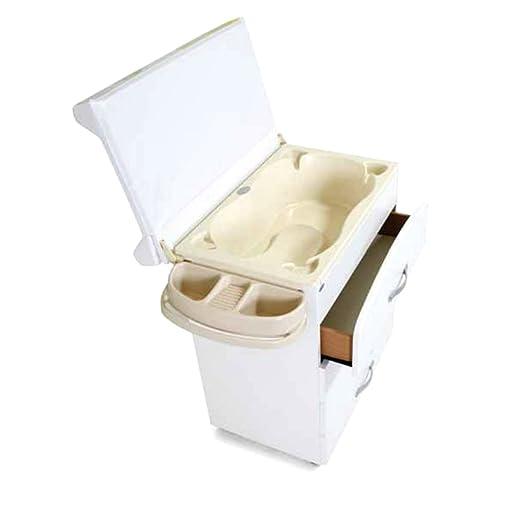 Mobile fasciatoio cassettiera + cuscino + vaschetta bagnetto bimbo arredo casa