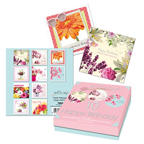 tallon-just-to-say-lux-floral-birthday-card-box-of-10