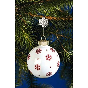 Snowflake Sure Grip Ornament Clips in Silver