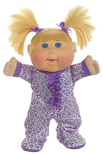 Cabbage Patch Kids Pajama Dance Party Blonde Leopard Baby Doll, 12.5