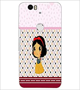 PrintDhaba Cute Doll D-5880 Back Case Cover for HUAWEI NEXUS 6P (Multi-Coloured)