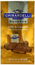 Ghirardelli Chocolate Squares, Milk Chocolate with Caramel Filling, 8.51 oz., 3 Count