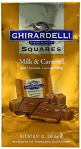 Ghirardelli Chocolate Squares, Milk Chocolate with Caramel Filling, 8.51-Ounce Bags (Pack of 3)