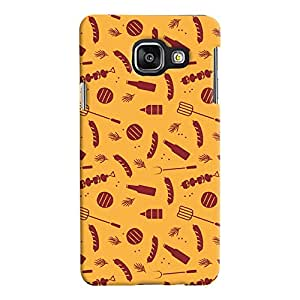 ColourCrust Samsung Galaxy A3 A310 (2016 Edition) Mobile Phone Back Cover With Party Time Pattern Style - Durable Matte Finish Hard Plastic Slim Case