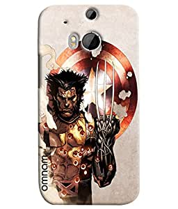 Omnam Wolverine Printed Designer Back Cover Case For HTC One M8