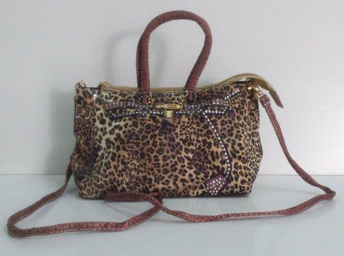 "Cheetah, Leopard Print Purse Bag No. 2 Dimension: 5"" H X 8"" W X 4"" D front-491228"