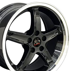 18″ Fits Mustang® – Cobra 98 Style 5-Lug Deep Dish Replica Wheels – Black 18×9 SET