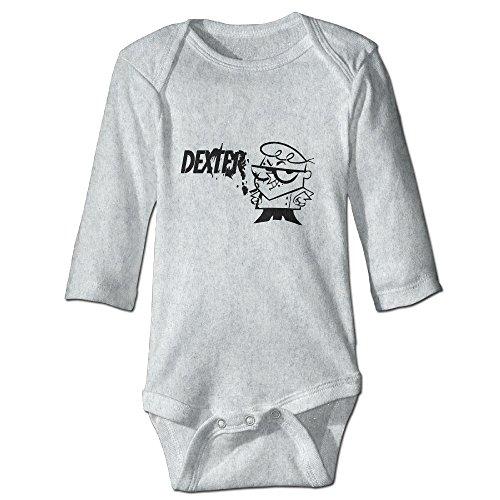 [DETED Dexter's Lab Poster Fashion Boy & Girl Infants Climb Jumpsuit Size6 M Ash] (Dexter Lab Costume)