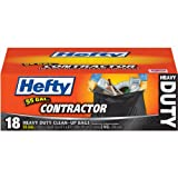 Hefty Contractor Bags, Black, 55 Count (Pack of 4)