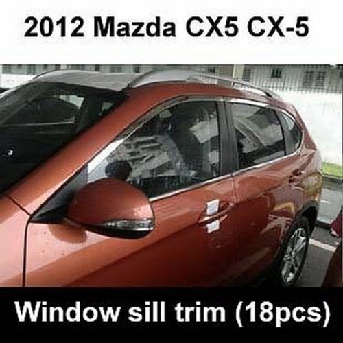 Auto Part Stainless steel Chrome Window Molding sill Lines Set Fit For Mazda CX-5 CX5 2012 2013