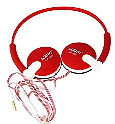 KDM Headphones Headset , Extremely Soft Ear Pad, Noise Cancelling Cute Earphones for Cellphone Smartphone Iphone/ipad/laptop/tablet/computer/MP3/MP4/etc.