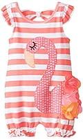 Mud Pie Baby Girls' Flamingo Romper