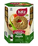 Katz Gluten Free Sesame Bagels, 13 Ounce, Certified Gluten Free - Kosher - Dairy, Nut free - (Pack of 6)