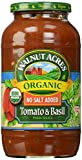 Walnut Acres, Tomato & Basil Pasta Sauce, Fat Free, Low Sodium, 25.5 oz