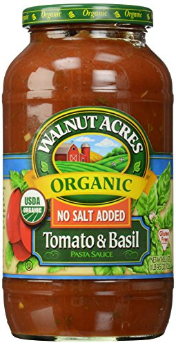 Walnut Acres, Tomato & Basil Pasta Sauce, Fat Free, Low Sodium, 25.5 oz (Pasta Sauce Low Sodium compare prices)