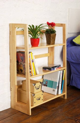 Natural Origins Large 3 Tier Book Shelves Folding