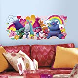 RoomMates RMK3171GM Trolls Movie Peel & Stick Giant Wall Decals