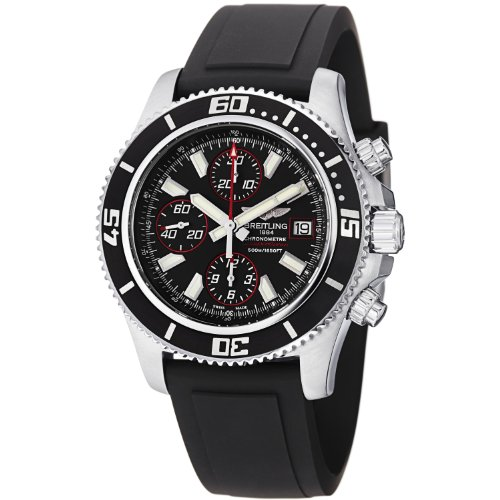 BREITLING SUPEROCEAN CHRONOGRAPH II A1334102/BA81BKPT GENTS BLACK RUBBER WATCH