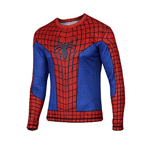 Samanthajane Clothing LTD - Top - Uomo Spiderman Long sleeve Large