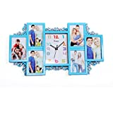 WOW Collage Photo Frame With Watch (Aqua)