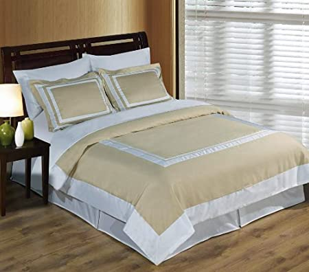 sheetsnthings 4PC Full/Queen size Linen with White Hotel bedding set including 3pc duvet cover set+ 1 pc Down Alternative Comforter at Sears.com