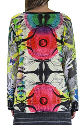 CUSTO BARCELONA Women's Style 7 Long Sleeve Graphic Top 2390070 custo barcelona women s style 7 long sleeve graphic top 2390070