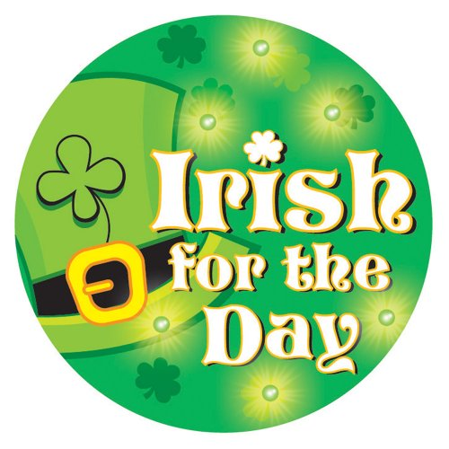 Creative Converting St. Patrick's Day Flashing Button, Irish for The Day