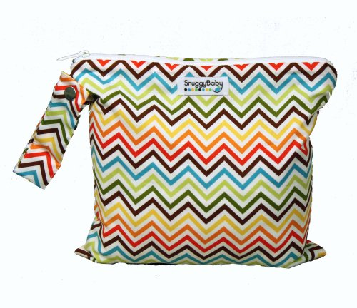 Snuggy Baby Rainbow Chevron Wet Bag