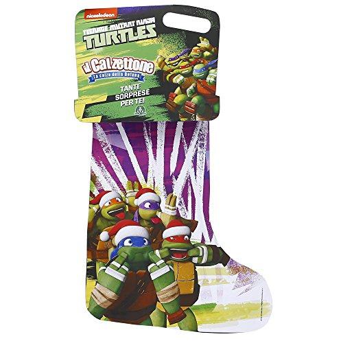 Giochi Preziosi - Calzettone Turtles, l'Originale Calza della Befana con Sorprese