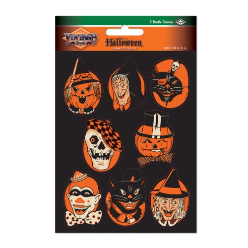 [Beistle Character Stickers, 4-Inch by 6-Inch Sheet] (6 Character Halloween Costumes)