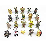 Yueton 20pcs Stargazy Pie Animal Miniature Ornament Set for Dollhouse Decor Fairy Garden