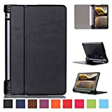 Smart Cover for Lenovo YOGA Tab 3 10 YT3-X50F 10.1 Inch Case Stand Slim Flip Book Cover Folio Skin X50L (Black) NEW (Color: Black)