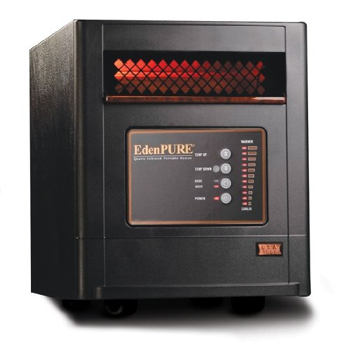 Portable Electric Heaters EdenPURE's Infrared Heaters are great for implementing zone heating in your home. With zone heating you only heat the rooms you use while your whole house furnace is kept at a lower temperature.