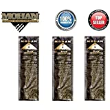 Mohan® Incense Black Sandalwood Scents Pack 250 Sticks (9.2 Inches Tall) - Makers of the World Famous Khush Scent - Premium Pure Charcoal Incense Hand Rolled in the Finest Herbs, Spices, Oils, Honey, and Sandalwood Powder