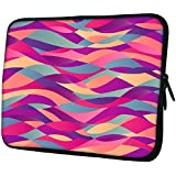 "Snoogg Mosaic Abstract Wave Background Colorful Abstract Hand Drawn Pattern 13"" 13.5"" 13.6"" Inch Laptop Notebook Slipcase Sleeve Soft Case Carrying Case For Macbook Pro Acer Asus Dell Hp Sony Toshiba"