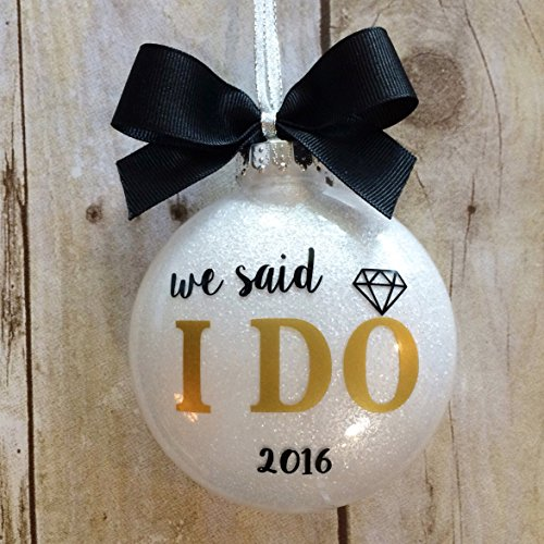 Wedding Ornament 2016, Wedding Christmas Ornaments 2016, Our First Christmas Ornament