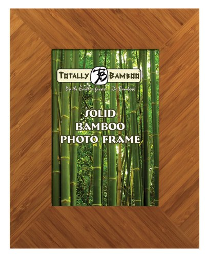 Totally Bamboo Negril 8-by-10-Inch Solid Bamboo Photo Frame