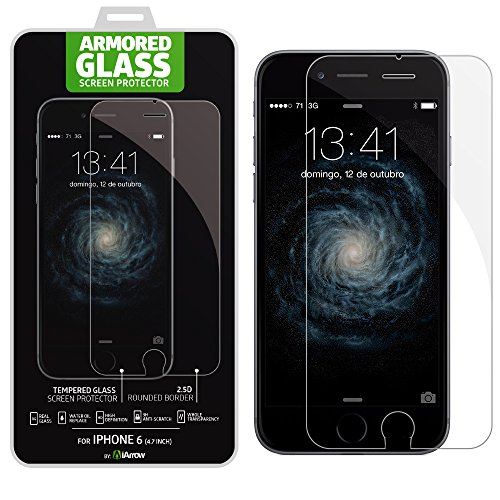 Iphone 6 (4.7 Inch Only) Tempered Glass Screen Protector - 0.33Mm Hd Crystal-Clear Ballistic Glass Screen Protector Keeps Your Iphone 6'S Display Completely Free From Scratches, Smudges And Fingerprints - Advanced Triple-Layer Design Delivers 99.99% Clari