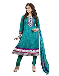 Atisundar Admirable Rama Green Printed Ready To Stitch Anarkali- 6076_47_3001