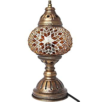 Table Lamp Mosaic Lamps Brown Glass Moroccan Lanterns Turkish Lamp Bedsi