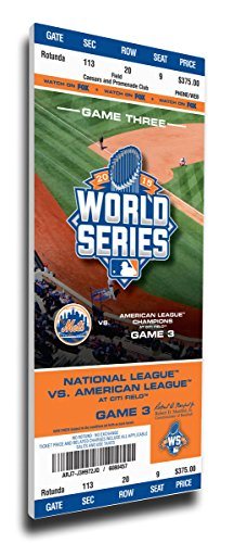 New York Mets 2015 World Series game 3 mega ticket blow up canvas Syndergaard (Giants Tickets 2015 compare prices)
