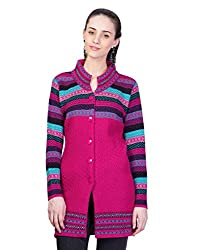 Montrex Pink Designer Long Coat For Women